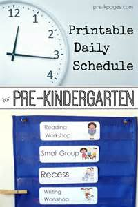 pre k preschool schedule full day half day
