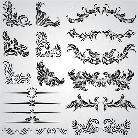 cornici gotiche elementi di disegno calligrafico e pagina decorazione