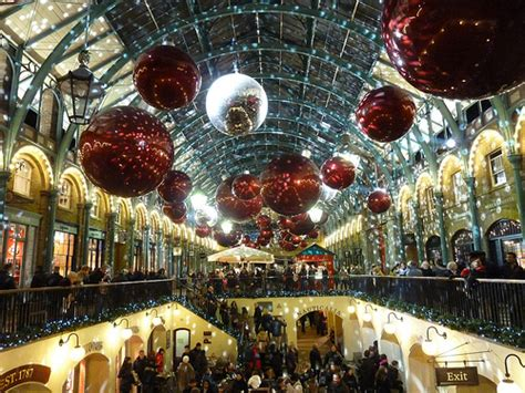 christmas decorations in wandswarth shopping centre london winter magic for the holidays