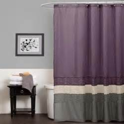 Purple And Grey Shower Curtain » Home Design 2017
