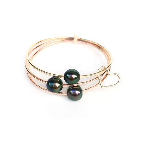 bracelet jewelry aa tahitian pearl bangle bracelet kailua jewelry