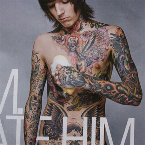 oliver sykes has some awesome tattoos sketchs