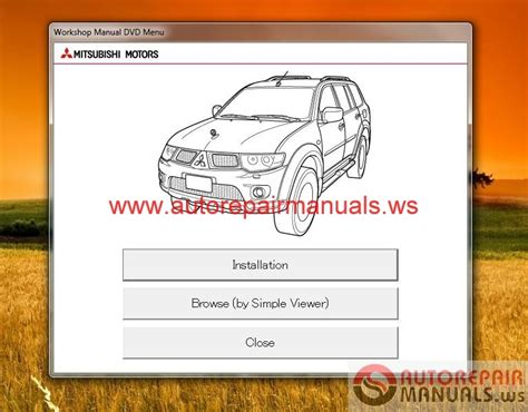 free auto repair manuals 1995 mitsubishi pajero parking system auto repair manuals mitsubishi pajero sport ge 2014 service manual cd