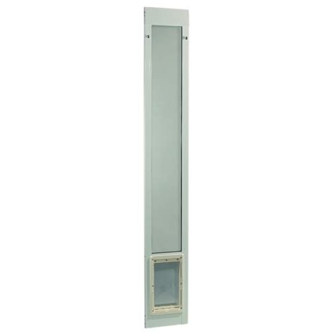 Fast Fit Patio Pet Door Ideal Pet Fast Fit Pet Patio Door Large White Frames 77 5 8 To 80 3 8 Inches