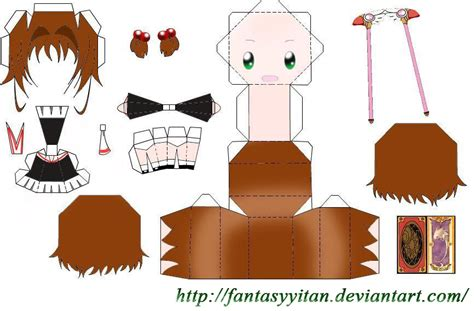 Papercraft Card - kinomoto papercraft by fantasyyitan on deviantart