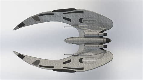cylon raider model cylon raider from new battlestar galactica free 3d