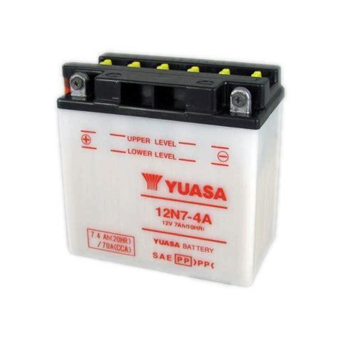 Motorrad Batterie 12v 7ah by Bater 237 A Yuasa Moto 12n7 4a 12v 7ah