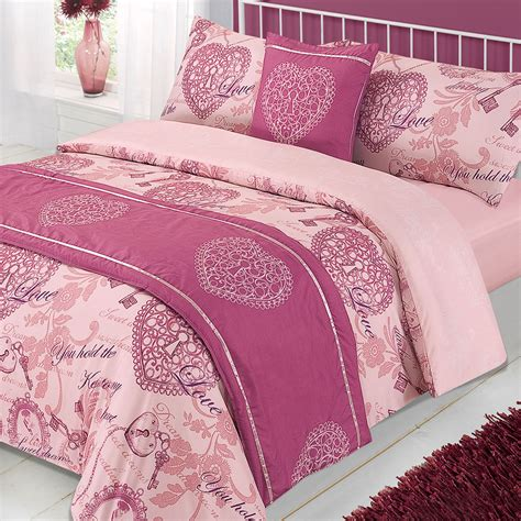 mauve bedding set complete duvet cover pillowcase bedding set bed in a bag
