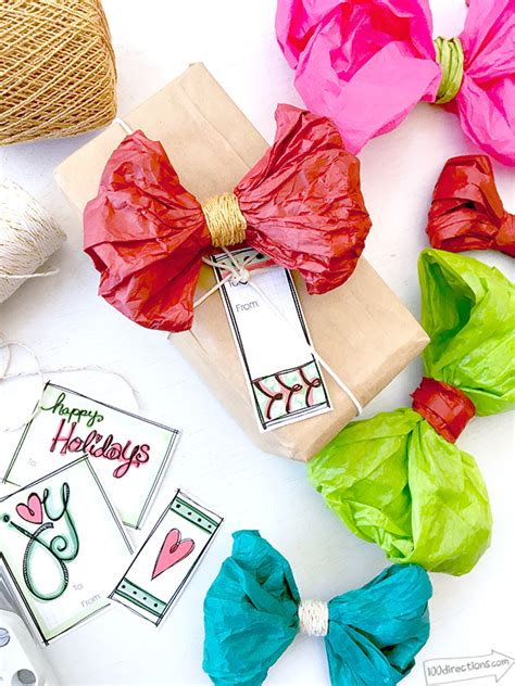 How To Make Bows With Tissue Paper - how to make a bow 25 awesome diys