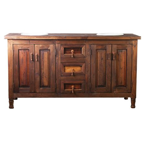 Wood Vanity by Sink Barnwood Vanity Made From Reclaimed Wood For Sale