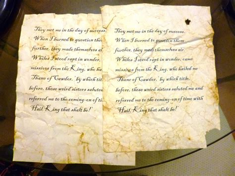 How To Make Parchment Paper - how to make paper look like ancient manuscript in