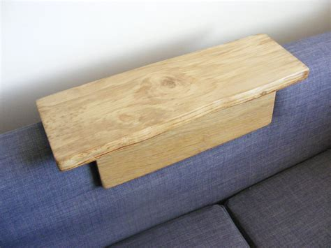 couch armrest table sofa arm table by mitaswoodcraft on etsy