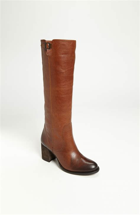 vince camuto boots vince camuto gettila boot in brown toasted brown lyst