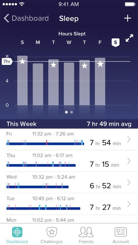 schlaf aufzeichnen app fitbit app und dashboard