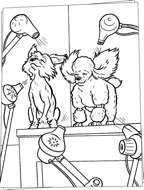 hairdresser coloring pages hair salon coloring pages
