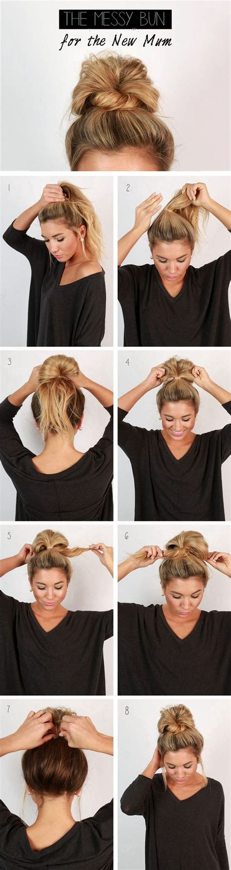 Wedding Hair Up Step By Step Guide by 26 Amazing Bun Updo Ideas For Medium Length Hair
