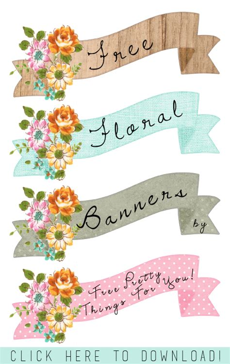 free printable vintage banner stock art images