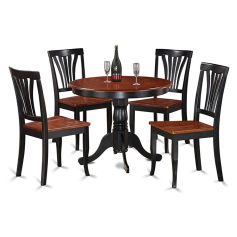 5 black and cherry kitchen table set ebay