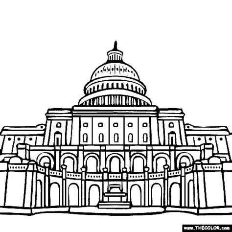 united states capitol building coloring page famous places and landmarks coloring pages page 1