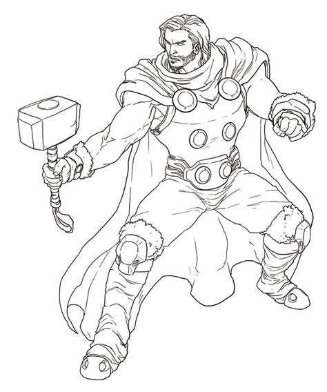 avengers cartoon coloring pages avengers thor free coloring pages