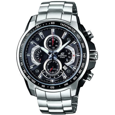 casio ef  avdf mens edifice silver stainless steel