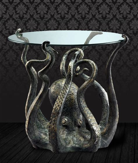 octopus decor octopus end table decor church of halloween