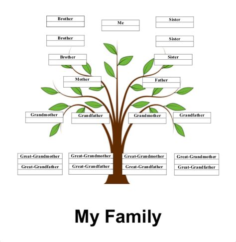 free printable family tree with siblings ancestry chart free download