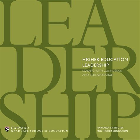 Educational Leadership Doctoral Programs 2 by Harvard Institutes For Higher Education 2014 Leadership