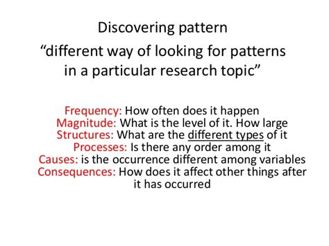 Pattern Analysis In Qualitative Research | qualitative analysis