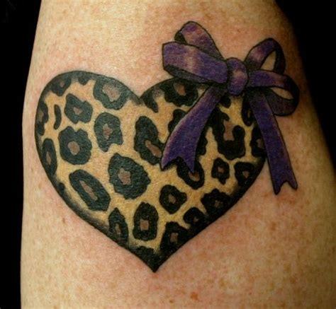 tattoo 2 printer ribbon leopard print heart tattoo i love this but a blue