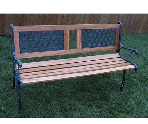 outdoor bench legs new 3 seater outdoor home wooden garden bench with cast