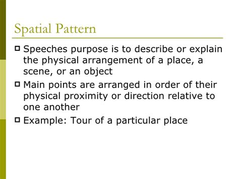 a topical pattern of speech organization has chapter 12 types of organizational arrangements
