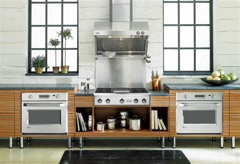 Free Standing Kitchen Design Free Standing Kitchen Contemporary Kitchen Other Metro By Monogram Appliances