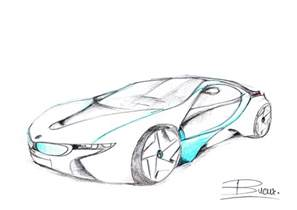 bmw concept car sketch by vladbucur on deviantart