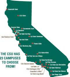 california state universities map california state map
