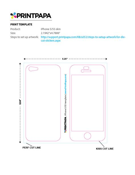 iphone 5 sticker template find a printing template printpapa