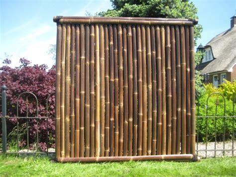 sichtschutz garten hoch bambuszaun asagi 180 cm hoch x 180 cm breit