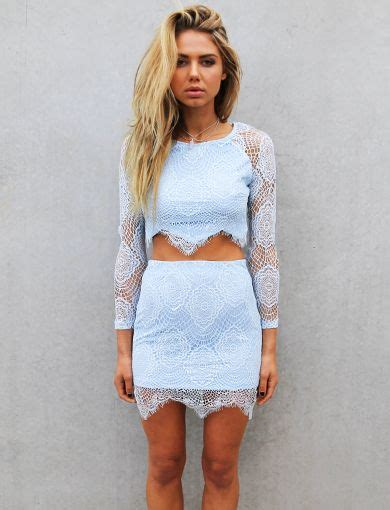 Blue Set Topskirts 9622 light blue lace i like the fact that it s cropped but not