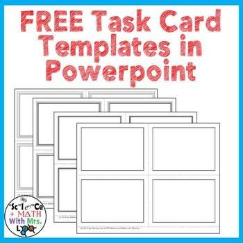 how to make my own powerpoint template would you like to make your own task cards use my