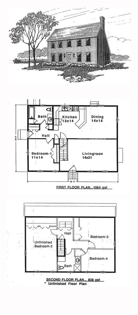 Colonial Saltbox House Plan 94007 House Plans Saltbox Colonial Saltbox House Plans