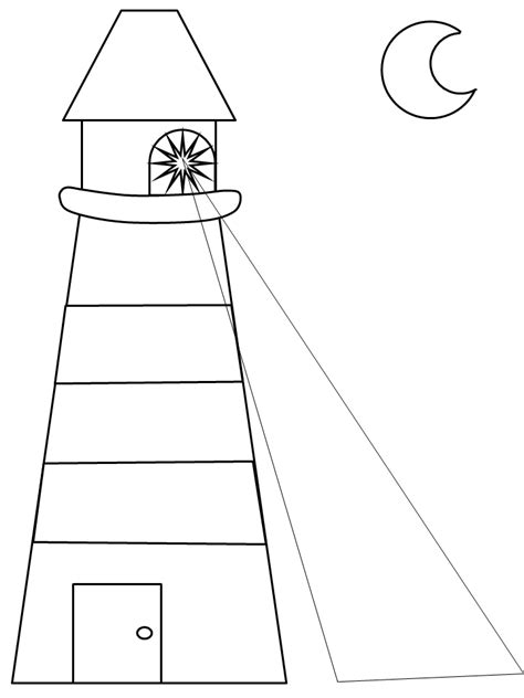 lighthouse template craft template coloring pages lighthouse keepers