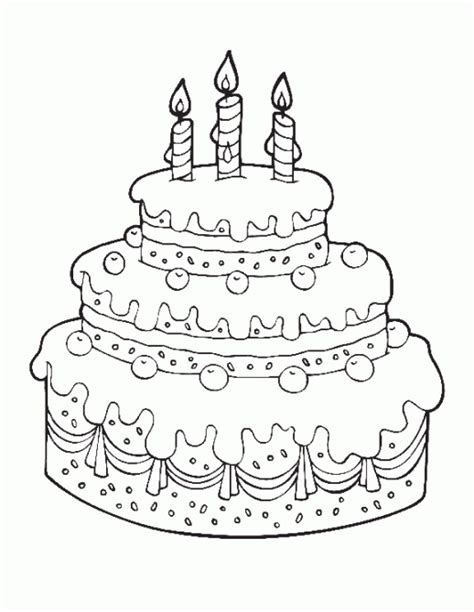 free coloring pages birthday cake printable cake happy birthday coloring pages free