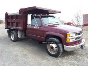 2000 chevrolet 3500 dually 1 ton pto deisel dump truck
