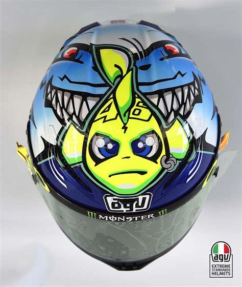 Design Rossi Helmet 2015 | valentino rossi s 2015 misano agv helmet asphalt rubber