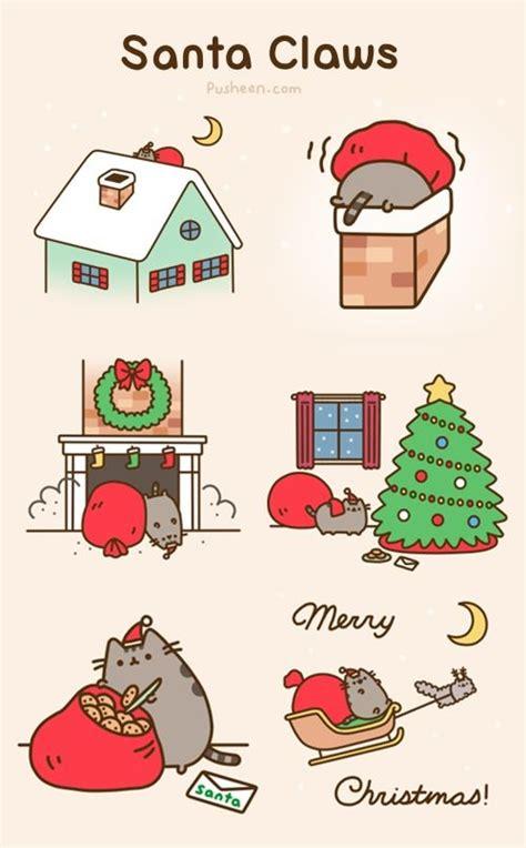 pusheen cat christmas to do list pusheen the cat images santa claws by pusheen hd wallpaper