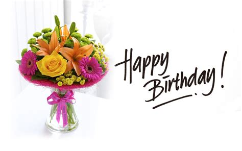 happy birthday flowers images wish you a happy birthday words texted wishes card images