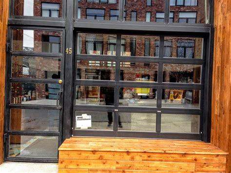 glass front garage doors black metal and glass garage door for freehold coffee in