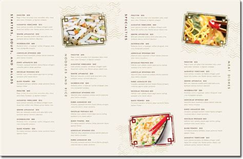 12 Best Chinese Food Restaurant Menu Templates Docs Restaurant Menu Template