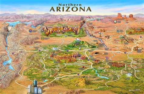 map of northern arizona jlrmaps states and areas map portfolio