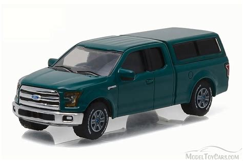 2015 Ford F 150 w/ Camper Shell, Green   Greenlight 29850D